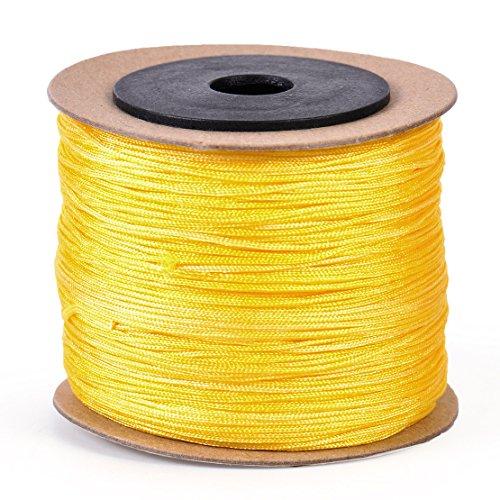 08mm-100m-nylon-cord-beading-string-thread-rattail-macrame-chinese-knot-braided-diy-yellow