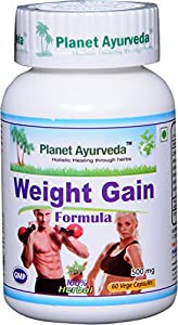 Weight Gain Formula is a blend of traditional herbs like Ashwagandha (Indian ginseng) and others, which help to regulate body metabolism and help to gain body weight in a very natural way.