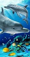KAUFMAN – Tropical Dolphin Beach, Bath, Pool Towel (105061) Perfect for layin…