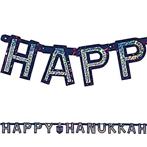 Happy Hanukkah Banner - Prismatic 72 Inch Letter Banner Big City Bargains by Big City Bargains
