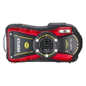 PENTAX Water Proof Digital Camera PENTAX WG-10 Red 1cmMacro Macro Stand PENTAX WG-10RD by Pentax