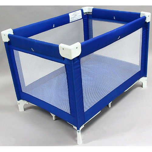 "LA Baby Commercial Grade 30.5"" X 43.5"" Playard, Royal Blue (Discontinued by Manufacturer) - 1"