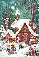 Children Playing in Snow German Advent Calendar by Sellmer Verlag