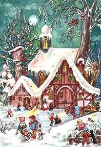 Children Playing in Snow German Advent Calendar by Sellmer Verlag