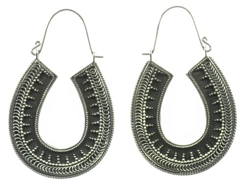 Silver Good Luck Earring Jewelry of Bali