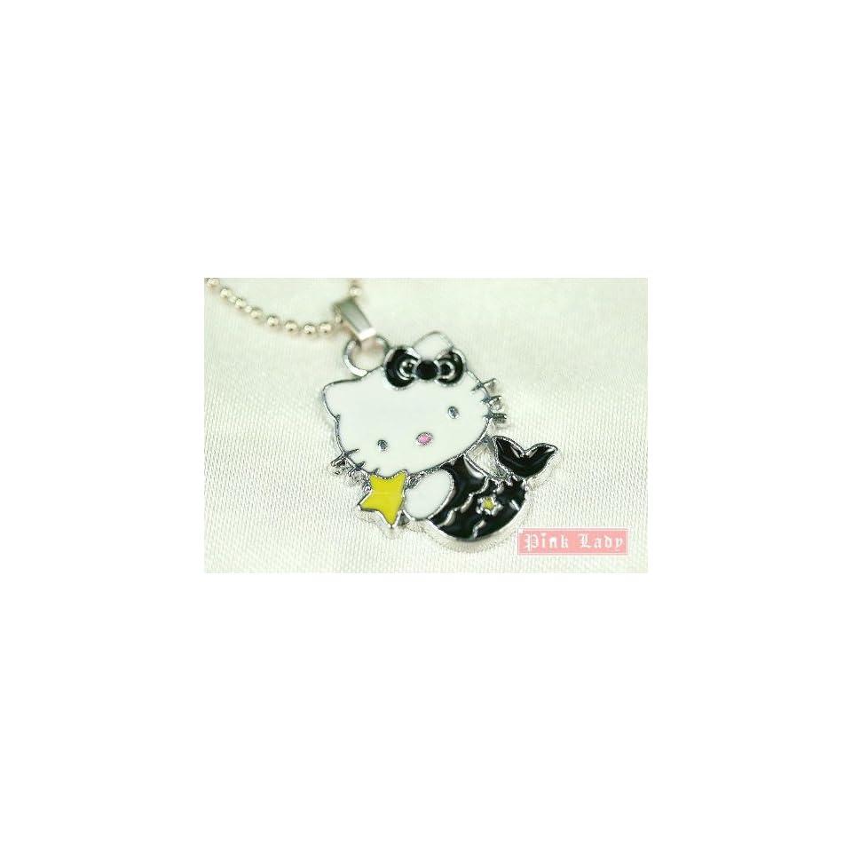Hello Kitty Black Mermaid Charm Necklace