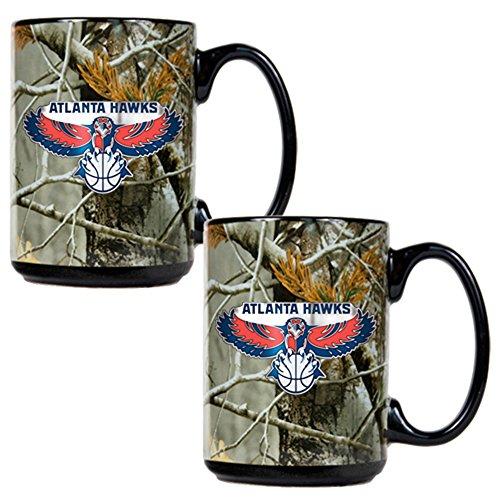 NBA Atlanta Hawks Open Field Two Piece Ceramic Mug Set
