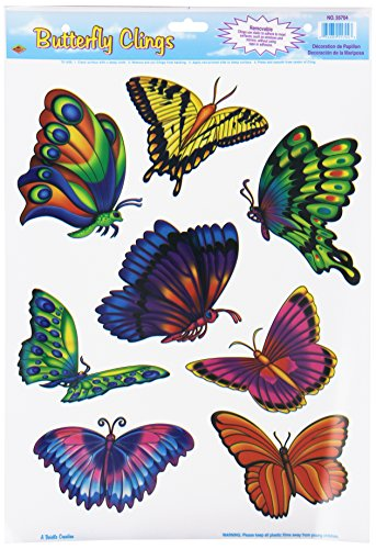 Butterfly Clings Party Accessory (1 count) (8/Sh) - 1