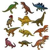 おもちゃ 子供玩具 動物のフィギュア 可愛い恐竜 ダイナソー ソフトモデルセット プレゼント 模型 ティラノサウルス、トライセラトップス、アンキロサウルス等 12個セット
