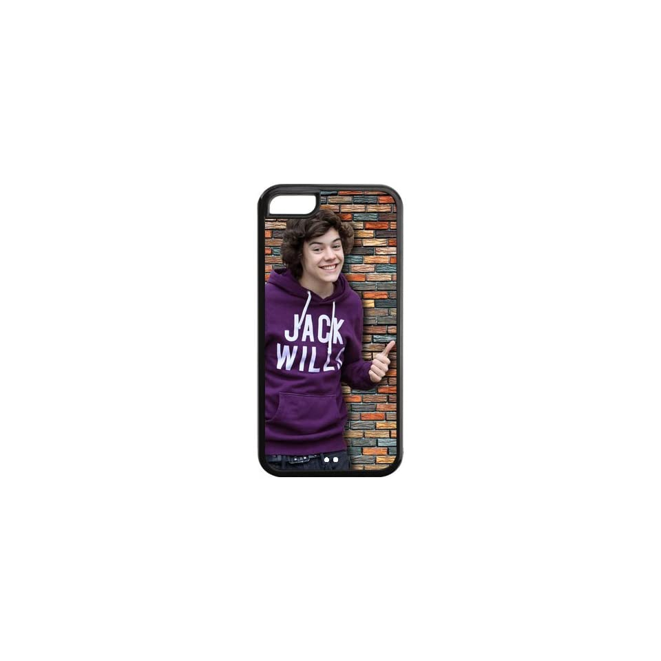 Singer Harry Styles One Direction Case Skin iPhone 5C TPU