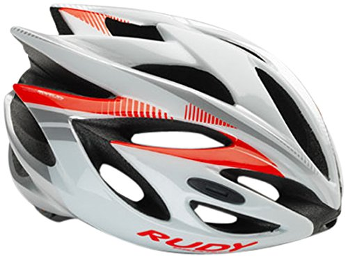 Rudy Project Rush Casco, White/Red Fluo Shiny, L