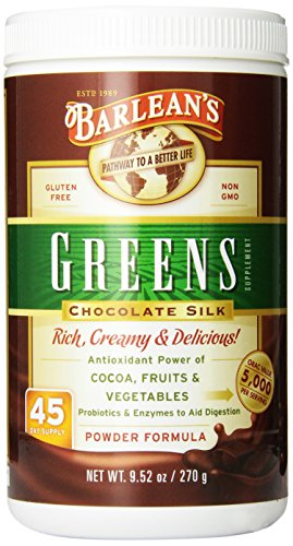 Barlean's Organic Oils Greens, Chocolate Silk, 9.52