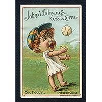 1889 Tobin Lithograph Baby Talk Kingdon Gould VG-EX/EX Back Damage 277774 Kit Young Cards