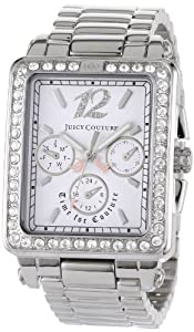 Juicy Couture Women's 1900781 Pedigree Tank Stainless Steel Bracelet Watch