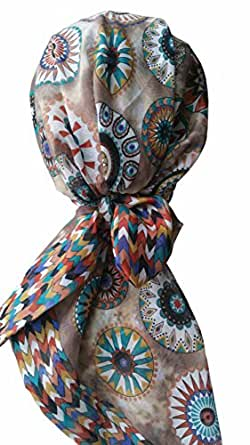 Head Scarves for Hair Loss (Beige/Aztec)