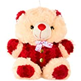 Generic Teddy Bear (Beige And Red)