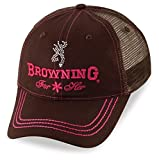 Browning Cap, Jeweled With Mesh Brown 308355881