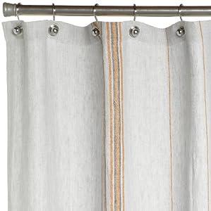 Amazon Coyuchi Rustic Linen Shower Curtain Pewter