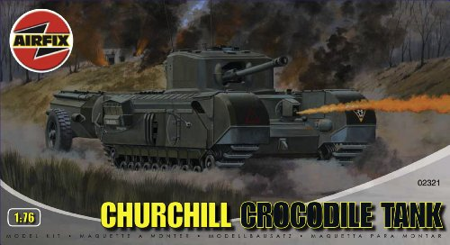 Airfix A02321 1:76 Scale Churchill Crocodile Tank Military Vehicles Classic Kit Series 2