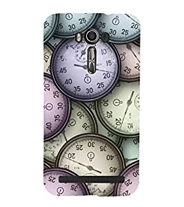 printtech Time Vintage Clock Watches Back Case Cover for Asus Zenfone 2 Laser ZE550KL / Asus Zenfone 2 Laser ZE550KL (5.5 Inches)