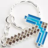 Official Minecraft Metal Diamond Pickaxe Keychain