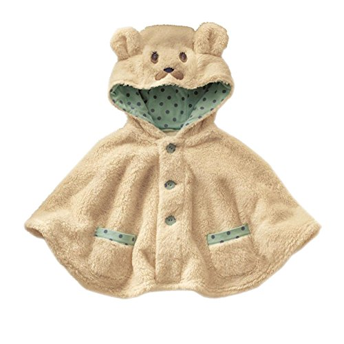 Adorable Bear Baby Clothes Cloak Baby Kids Warm Hood Cape Coat