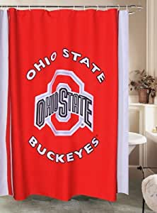 ohio state shower curtain sports fan shower