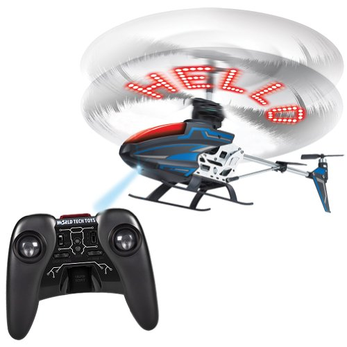 Sky Messenger Radio Controlled Helicopter Program Message In Spinning Blades