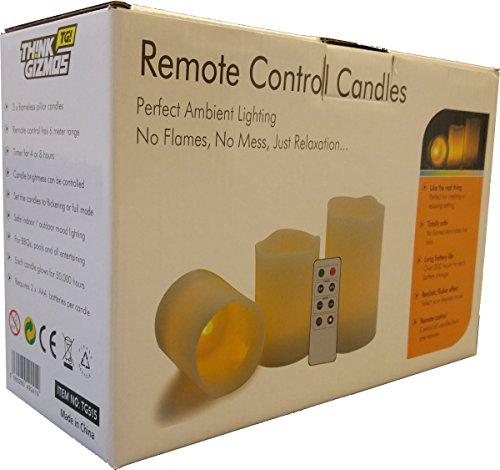 kerzen mit fernbedienung 3er pack fantastische kerzen ohne flamme mit fernbedienung timer. Black Bedroom Furniture Sets. Home Design Ideas