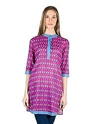 Panit Women's Cotton Kurta (PANI022A_Pink_Small)