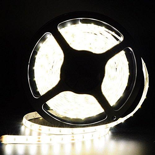 Happy Hours® New & Hot Cool White 16.4 Feet (5 Meter) 300 Leds Flexible Led Light Strip Led Light Kit Super Bright + Dc 12V Plug Waterproof