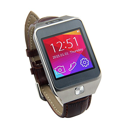 LEMFO NO.1 G2 Bluetooth Smart Watch WristWatch Smartwatch With Pedometer Anti-lost Camera for iPhone Samsung HUAWEI Android Phones (Leather Band)