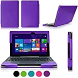 ASUS Transformer Book T100 Case Cover, Fyy® Fully Armed Leather Case for ASUS Transformer Book T100 Purple