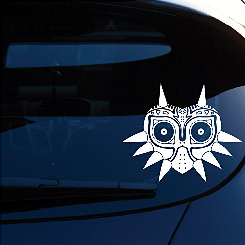 Zelda Majoras Mask Skin Decal Sticker for Car window, Laptop, Motorcycle, Walls, Mirror and more. Sku: 552 (White) (Skin Industries Decal compare prices)