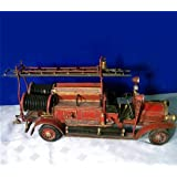 Antique Detailed Tin Ladder Truck Fire Engine Antique Detailed Tin Ladder Truck Fire Engine