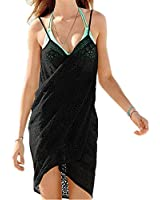 Mullsan women's swimsuit Cover Up and Spaghetti Strap Beach Dress