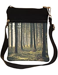 Snoogg Forest Surface Cross Body Tote Bag / Shoulder Sling Carry Bag