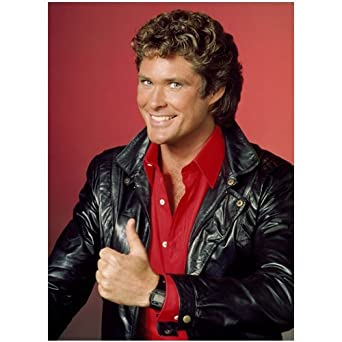 David Hasselhoff KITT 8x10 color Photo Knight Rider Thumbs up at