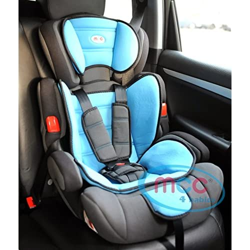 Mcc 3in1 Convertible Baby Child Car Safety Booster Seat Group 1 2 3 9-36 kg with7 Colour options (Blue)