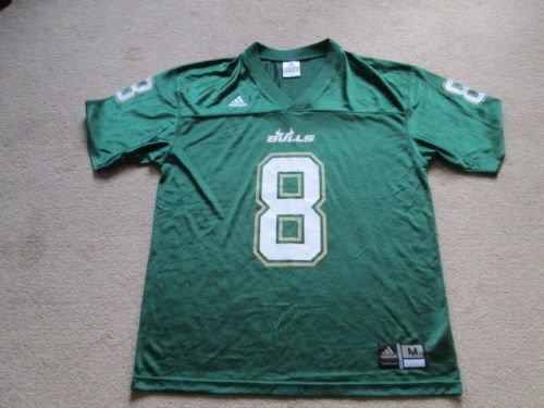 Adidas USF South Florida Bulls NCAA American Football # 8 Jersey - Mens Medium