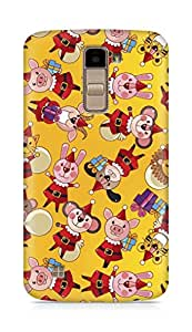 Amez designer printed 3d premium high quality back case cover for LG K10 (Small animals drawing)