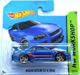 Hot Wheels 2014 HW Workshop NISSAN SKYLINE GT-R (R34) BLUE 230/250 (Backing card might vary)