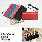 Margaret 本革レディース長財布 スリムだからクラッチバッグにもすっきり収まる(ブラック)