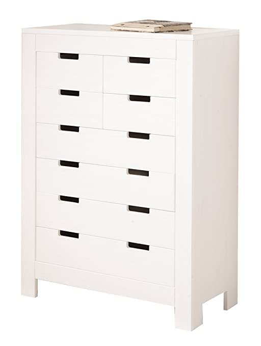Ben DRAWERS. SIZE.90x43x124H. WHITE SOLID PINE WATER-VARNISHED. ARTICLE IN KIT.