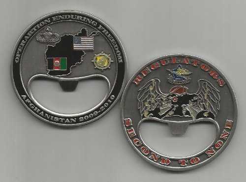 Regulators Second to None OEF 2009-2010 Afghanistan Bottle Opener Challenge Coin