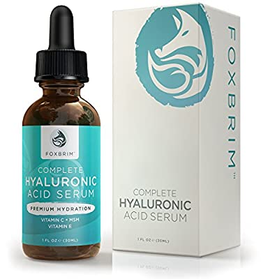 Hyaluronic Acid Serum - Pure Hyaluronic Acid Serum with Vitamin C - Natural Ingredients Green Tea, Vitamin E, Jojoba Oil & Witch Hazel - Premium Anti Aging for Lasting Results, 1oz.