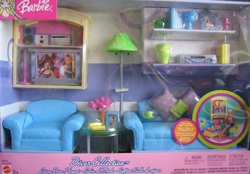 Barbie Decor Collection Living Room Playset - Multi-Lingual Box (2003)