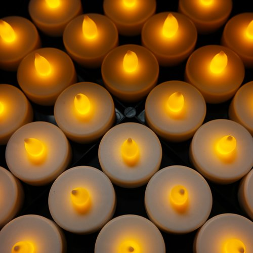 Cys Led Tea Ligth Candles, Pack Of 48 Pcs. Flameless Led Tealight Candles