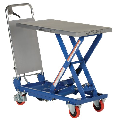 "Vestil Cart-400 Hydraulic Elevating Cart, 400 Lbs Capacity, 27-5/8"" Length X 17-3/4"" Width Platform"