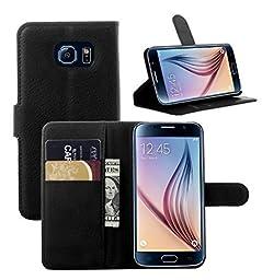 Samsung Note 5 Flower Wallet Case-Aurora® Black Samsung Note 5 TPU Leather Wallet Card Slot Cover with Strap and Kickstand for Samsung Galaxy Note 5